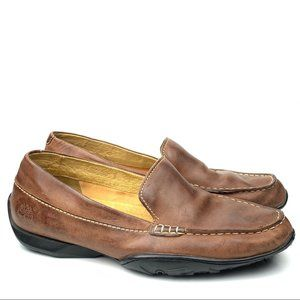 Timberland mens loafers size 9 brown leather